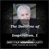 The Doctrine of Inspiration, 1