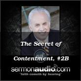 The Secret of Contentment, #2B