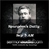 Spurgeon's Daily - Sep 5 AM