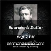 Spurgeon's Daily - Sep 7 PM