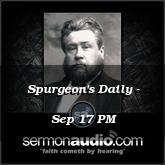 Spurgeon's Daily - Sep 17 PM
