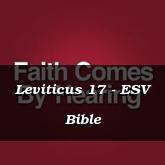 Leviticus 17 - ESV Bible
