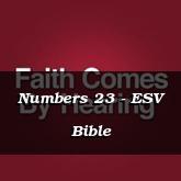 Numbers 23 - ESV Bible