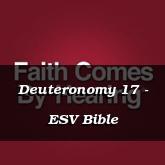 Deuteronomy 17 - ESV Bible