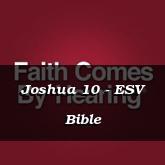 Joshua 10 - ESV Bible