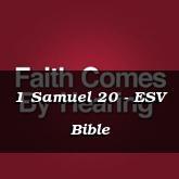 1 Samuel 20 - ESV Bible