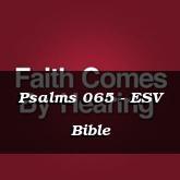 Psalms 065 - ESV Bible