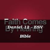 Daniel 12 - ESV Bible
