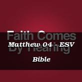Matthew 04 - ESV Bible