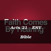 Acts 21 - ESV Bible