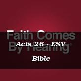Acts 26 - ESV Bible