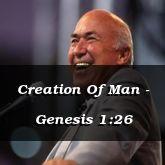Creation Of Man - Genesis 1:26