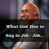 What God Has to Say to Job - Job 38:1 - C3167A