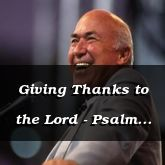 Giving Thanks to the Lord - Psalm 107:17 - C3202B