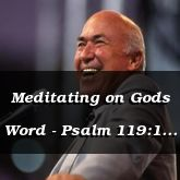 Meditating on Gods Word - Psalm 119:1 - C3206A