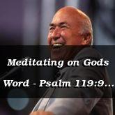 Meditating on Gods Word - Psalm 119:9 - C3206B
