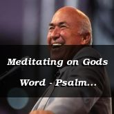Meditating on Gods Word - Psalm 119:49 - C3207A
