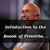 Inroduction to the Boook of Proverbs - Proverbs 1:1 - C3218A