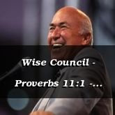 Wise Council - Proverbs 11:1 - C3221C