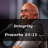 Integrity - Proverbs 20:11 - C3227C