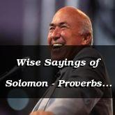 Wise Sayings of Solomon - Proverbs 25:15 - C3230C