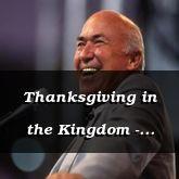 Thanksgiving in the Kingdom - Isaiah 13:1 - C3248B