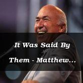 It Was Said By Them - Matthew 5:21-37 - C2502D