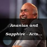 Ananias and Sapphire - Acts 5:1-1-14 - C2556A
