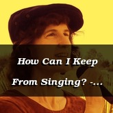 How Can I Keep From Singing? - Robert Lowry, arr. Susan Hawthorne [Voice-Piano Hymn]