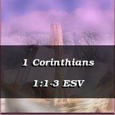 1 Corinthians 1:1-3 ESV