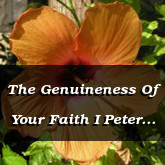 The Genuineness Of Your Faith I Peter 1.7