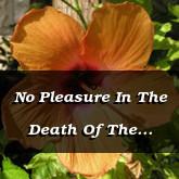 No Pleasure In The Death Of The Wicked Ezekiel 33.11 18.30-32