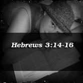 Hebrews 3:14-16