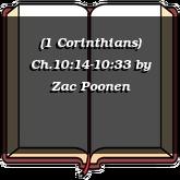 (1 Corinthians) Ch.10:14-10:33