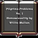 Pilgrims Problems No. 1 Homosexuality