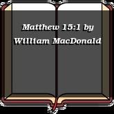 Matthew 15:1