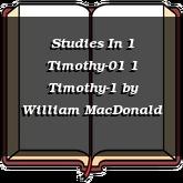 Studies In 1 Timothy-01 1 Timothy-1