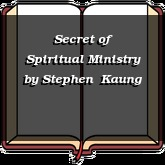 Secret of Spiritual Ministry