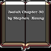 Isaiah Chapter 30
