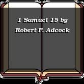 1 Samuel 15