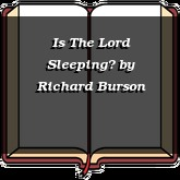 Is The Lord Sleeping?
