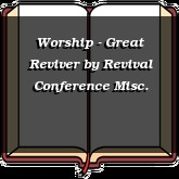 Worship - Great Reviver