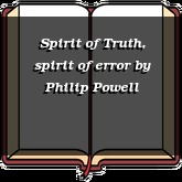 Spirit of Truth, spirit of error