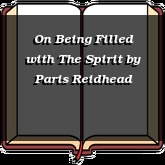 On Being Filled with The Spirit