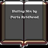Hating Sin