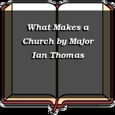 What Makes a Church