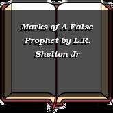 Marks of A False Prophet