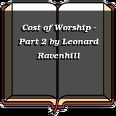 Cost of Worship - Part 2