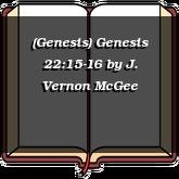 (Genesis) Genesis 22:15-16