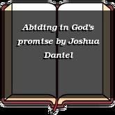 Abiding in God's promise
